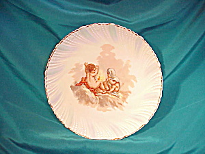 UNMARKED EARLY PLATE W/CHERUBS AND FIRE (Image1)