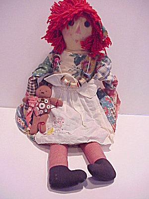 Large Raggedy Doll with small Bear (Image1)