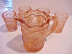 Pink Lemonade set Pressed Glass (Image1)