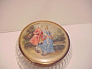 Glass Powder Box with Portrait Lid (Image1)