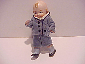 Antique Bisque German Boy Doll