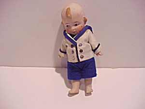 Antique Bisque Boy Doll in Sweet Sailor Suit (Image1)