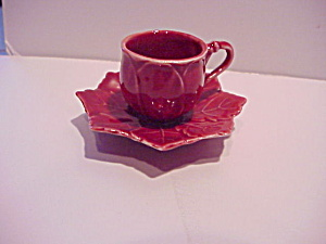 Vintage Miniature Cup And Saucer - Porcelain