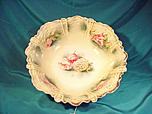 RS PRUSSIA(RM) RIPPLE MOLD BOWL W/POPPIES (Image1)