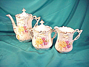 RS PRUSSIA(SAXE ALT) TEA SET STEEPLE 3 (Image1)