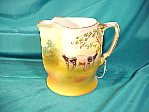 ROYAL BAYREUTH MILK PITCHER W/CATTLE (Image1)