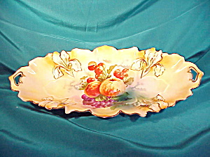 RARE RS PRUSSIA IRIS MOLD TRAY W/FRUIT (Image1)
