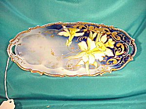 RS PRUSSIA COBALT RELISH W/DAFFODILS/GOLD (Image1)
