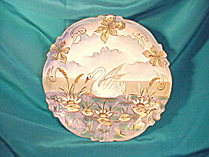 RS PRUSSIA RASPBERRY MOLD SWAN PLATE (Image1)