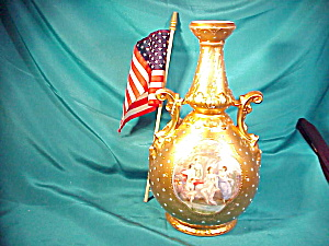 RS PRUSSIA (ES) GOLD ORNATE PORT. VASE (Image1)
