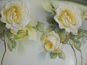 RS GERMANY ROSE DECORATED DRESSER TRAY (Image1)