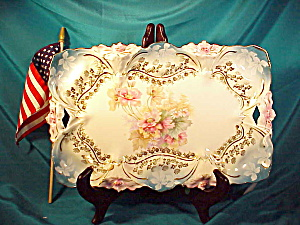 RS PRUSSIA O.H. LILY MOLD DRESSER TRAY (Image1)