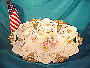 RS PRUSSIA O.H. LILY MOLD BUN TRAY W/GOLD (Image1)