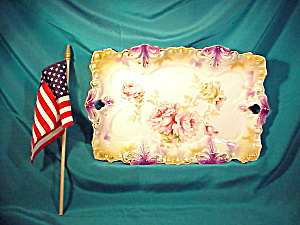RS PRUSSIA TIFFANY PLUME MOLD DRESSER TRAY (Image1)
