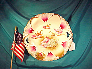 RS PRUSSIA O.H. SCATTERED FLOWERS PLATE (Image1)