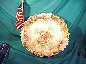 Rs Prussia Iris Mold Bowl W/gold Band