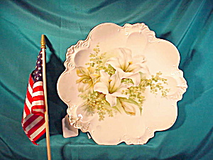 Rs Prussia Easter Lily Plate