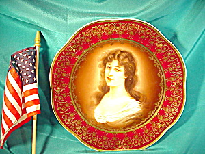 ROYAL VIENNA PORTRAIT PLATE W/H.P AND GOLD (Image1)