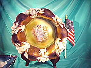 RS PRUSSIA TIFFANY LADY WATERS FLWRS BOWL (Image1)