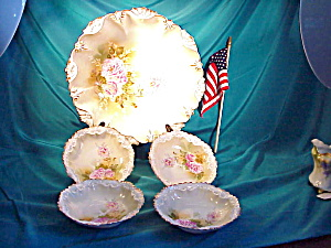 Rs Prussia Berry Set/fleur And Shell Mold