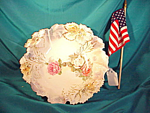 Rs Prussia Carnation Mold Floral Bowl