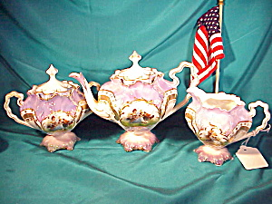 RARE RS PRUSSIA PORTRAIT TEA SET (Image1)