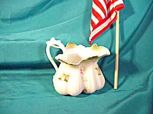 RS PRUSSIA VINE HANDLED FLORAL PITCHER (Image1)