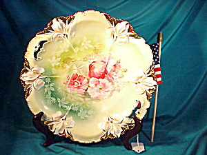 Rs Prussia Iris Mold O.h. Cake Plate/poppies