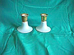 ES PROV SAXE (green mark) pair of candlesticks (Image1)