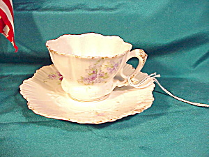 RS PRUSSIA DEMITASSE CUP/SAUC. W/LILACS (Image1)