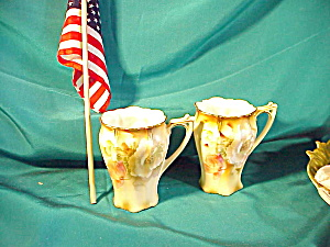 Pair Of Rs Prussia Chocolate Cups