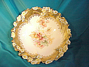 RS PRUSSIA BLOWN FLORAL/HEAVY GOLD BOWL (Image1)