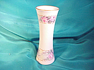 UNMARKED RS PRUSSIA(?) H.P. VASE W/ROSES (Image1)