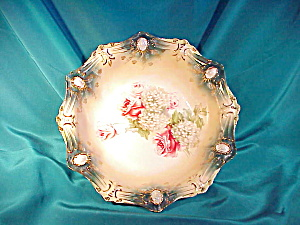 Rs Prussia(Rm) Ribbon And Jewel Large Bowl