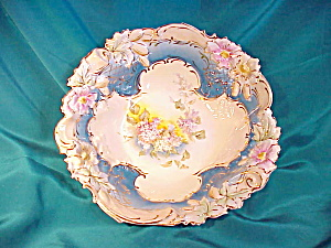 RS PRUSSIA(UM) EARLY BLOWN MOLD LILAC BOWL (Image1)