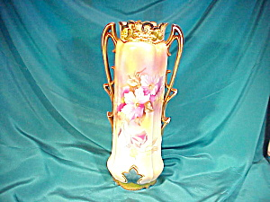 RS PRUSSIA(RVG) HUGE 2HANDLE CLEMATIS VASE (Image1)