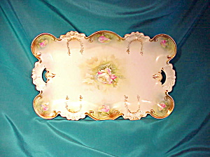 RS PRUSSIA(RM) SCALLOPED O.H. TRAY W/GOLD (Image1)
