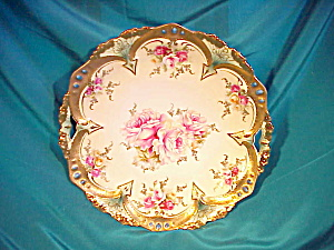 RS PRUSSIA(RM) TURQUOISE JEWELLED OH PLATE (Image1)