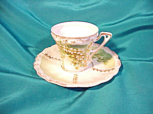 RS PRUSSIA(UM)STIPPLE FLORAL CUP AND SAUCER (Image1)