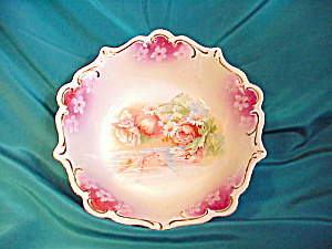 RS PRUSSIA REFLECTING DAISIES MAGENTA BOWL (Image1)