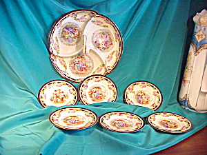 RS PRUSSIA DIVIDED BOWL AND  4 PORT. PLATES (Image1)