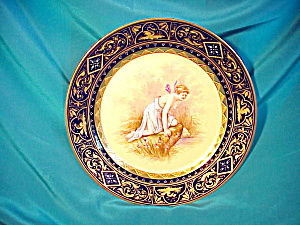 ROYAL VIENNA COBALT/GOLD PSYCHE PLATE-MINT (Image1)