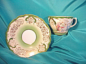 RS PRUSSIA MAIDENS CUP AND SAUCER W/GOLD (Image1)