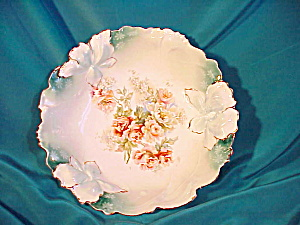 "RS PRUSSIA(UM)10"" IRIS MOLD FLORAL BOWL (Image1)"
