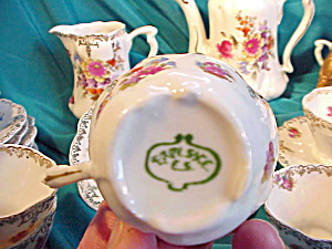 RS PRUSSIA(UM) RUFFLED HAND PAINTED TEA SET (Image1)