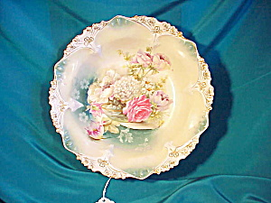 RS PRUSSIA(RM) POINT/CLOVER BOWL W/GLASS/FLRS (Image1)