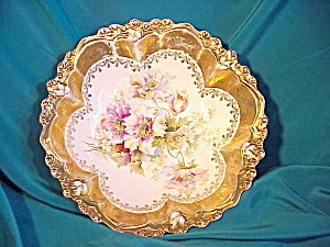 RS PRUSSIA (STEEPLE) BOWL/GOLD/GOLD/FLOWERS (Image1)