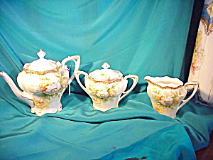RS PRUSSIA(RM) SATIN TEA SET W/WILD ROSES (Image1)
