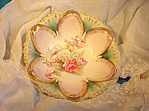 RS PRUSSIA SIX PETAL BOWL/FLOWERS IN GLASS (Image1)