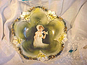 RS PRUSSIA PANSY MOLD AUTUMN PORTRAIT BOWL (Image1)